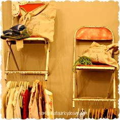 Use old chairs as shelving!