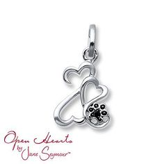 2e9a021e5 The perfect gift for any pet lover, this mini-charm from the Open Hearts.  Kay