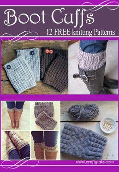 Boot cuffs free knitting patterns