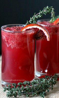 Thyme Blood Orange Bourbon Cocktail