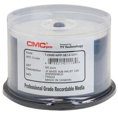 600 CMC Pro Taiyo Yuden 16X DVDR 47GB Water Shield White Inkjet Hub Printable *** Find out more about the great product at the image link.