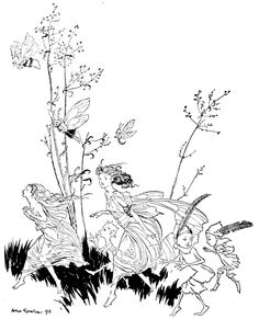 """saveflowers1: """" Art by Arthur Rackham (1906) from PETER PAN IN KENSINGTON GARDENS. Source: http://archive.org/details/peterpaninkensin00barr (Note: Rackham picture series are all photo-shop restored..."""