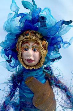 AQUARIUS, #ZODIAC Art Doll, OOAK, #Horoscope Doll, #Star Sign, #michellemunzone #ArtDoll