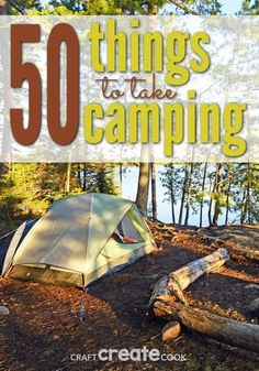 Things To Bring Camping With summer approaching fast, you'll want to check out this list: 50 Things To Bring Camping.With summer approaching fast, you'll want to check out this list: 50 Things To Bring Camping. Zelt Camping, Camping Bedarf, Camping Packing, Camping Outfits, Camping World, Camping Essentials, Family Camping, Outdoor Camping, Camping Stuff