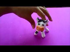 Como hacer una vaca en porcelanicron - YouTube