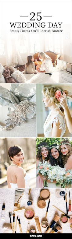 When your wedding day finally arrives, you want to have pictures of every important detail. To help you be as prepared as possible, we collected inspiring shots that will capture how sublimely stunning you look and feel at your wedding.
