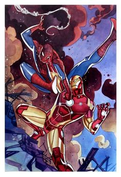 Spider-Man vs Iron Man by Thony Silas