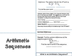 Infinite Geometric Series Worksheets  Arithmetic