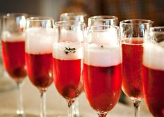Cherry Thyme Champagne Cocktail recipe - A fairly new tradition are these Cherry Thyme Champagne Cocktails.  I started making them last Christmas and loved them so much that they carried on to New Years and many, many times last winter.  I love champagne and I love champagne cocktails. #cocktail #holiday #drink