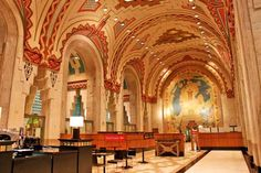 The Guardian Building in Detroit was once a bank, simply gorgeous!
