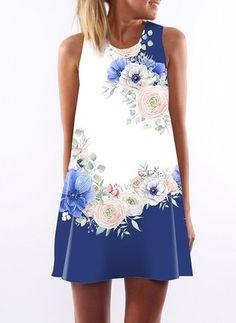 New Look Bardot del hombro floral superior azul de gasa con flores de óxido//Verde