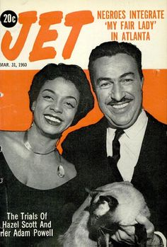 The Trials of Hazel Scott and Adam Clayton Powell, Jr - Jet Magazine, March 1960