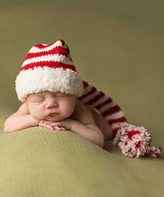 b621c6f3ba6 Melondipity Red   White Stripe Crochet Beanie - Newborn   Infant