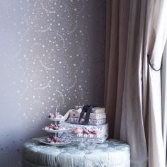 Stars and Striped Wallpapers. Fun wallpaper for kids rooms & Nurseries. Kids Room Wallpaper, Star Wallpaper, Striped Wallpaper, Cool Wallpaper, Hearth And Home, New Homes, Stars, Furniture, Lavender