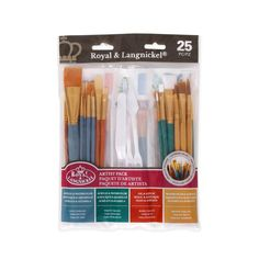 Artist Paint Brush and Knife Pack — 25 pieces - good basic set for crafting