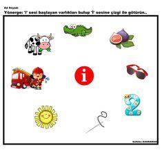 okul öncesi i sesi Worksheets, Alphabet, Acting, Preschool, Activities, Alpha Bet, Kid Garden, Literacy Centers, Kindergarten