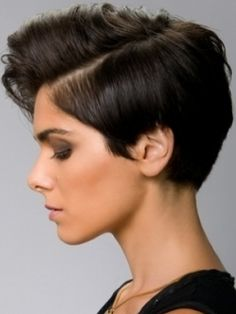 Boyish but sexy haircut, for if I ever get the crazy urge to go this short.