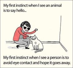 Animals vs. people (depends what mood I'm in...)