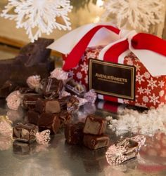 Gift Item | Chocolate Caramels in a Snowflake Gift Box. Just right for that special HOME! Send one to yourself and one to a friend, today! SOC ID 72492