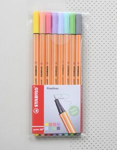 8 Fineliners / pastel pens from Stabilo THE German design classic by Stabilo: th. - 8 Fineliners / pastel pens from Stabilo THE German design classic by Stabilo: th. 8 Fineliners / pastel pens from Stabilo THE German design classic . Stationary Store, Stationary Supplies, Stationary School, School Stationery, Cute Stationery, Stabilo Point, School Suplies, Cute Pens