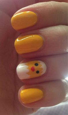 Easter Chick Nail Art Designs, Ideas,