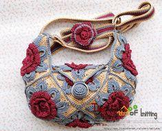 Crochet Sobresaliente: Interesante ganchillo bolsa. Listas.