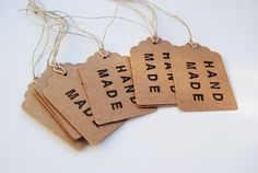 Set of 10 Hand Made Tags by LaCasetaDePaper on Etsy, €3.75