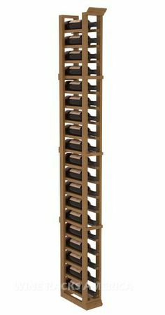 """Five Star Series: 1 Column 19 Bottle Standard Wine Cellar Rack in Mahogany with Oak Stain +Satin Finish by Wine Racks America®. $200.29. Made from eco-friendly wood sources in sustainable forests. 3 ¾"""" wide cubicles for bottle access.. Money Back Guarantee + Lifetime Warranty. Choose From either Pine, Redwood, or Mahogany along with optional Industry Leading Quality Eco-Friendly Stains Paired with an Immaculate Satin Finish. Each have custom finishes and are professionally s..."""