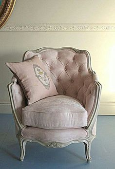 I've always wanted a cozy armchair in my bedroom to relax in. A cream or deep shade of the accent color would be lovely.