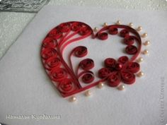 The Love of Curls Quilling Arte Quilling, Quilling Work, Paper Quilling Patterns, Quilling Paper Craft, Valentine Day Cards, Valentine Crafts, Valentine Decorations, Quilled Creations, Quilling Techniques