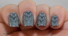 OPI Cement The Deal with stamping made of Mentality Grey Opaque and patter from @bornprettynails 26