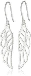 Sterling Silver Angel Wing Drop Earrings  http://electmejewellery.com/jewelry/earrings/sterling-silver-angel-wing-drop-earrings-com/