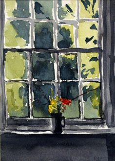 light through the closed window. I don't know who painted this but it is a great painting...