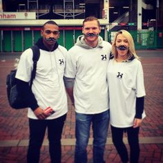 Fun day at Twickenham on Saturday giving out #musclemovember moustache! Use the code #JHBFMM on our site for a discount and we'll make a donation to @movember WWW.JHBODYFIRE.COM