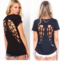 DIY: Renueva tu camiseta con forma de alas, ¡toma nota!
