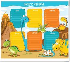 """""""Horarios de dinosaurios"""" (Orientacionandujar.es)"""