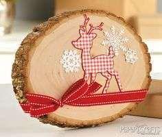 Kerstdecoratie van boomstam - Woontrendz