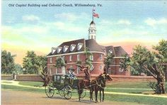 Vintage Virginia Postcard  Colonial Capitol by VintagePlum on Etsy