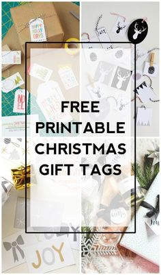 Another great collection of free printable Christmas gift tags to easily add to any Christmas gifts!