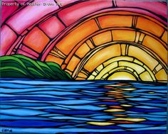 Surf art by Heather Brown - Original paintings & prints - waves, ocean, surf… Heather Brown Art, Posca Art, Hawaiian Art, Hawaiian Sunset, Sun Art, Samurai Tattoo, Stained Glass Art, Vampire Knight, Beach Art