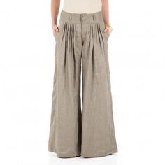 linen palazzo pants - Pi Pants