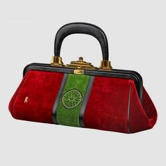 View this item and discover similar handbags and purses for sale at - This  is an exceptionally clean vintage velour bag byRoberta Di Camerino. aa0de969d8