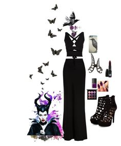 """Maleficent"" by musie-della ❤ liked on Polyvore featuring Alexander McQueen, Monan, Disney, NARS Cosmetics, MAC Cosmetics, Allurez, Proenza Schouler, disney and maleficent"