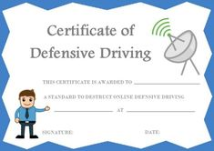 image regarding Defensive Driving Course Online Texas Printable Certificate named 20 Easiest Protected At the rear of Certification Template photos in just 2018