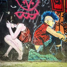 Dos à dos par @janaundjs & #sstdivision #janaundjs #streetart #streetartist #urbanart #urbanartist #graffiti #graff #streetartparis #parisgraffiti #graffitiwall #wall #streetarteverywhere #streetphoto #streetartandgraffiti #urbanwalls #graffart #spray #bombing #instagraff #nirindastreet #lelavomatik #paris