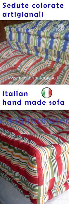 divano, seduta colorata a giorno, realizzata da materassai italiani, no roche bobois