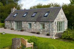 2 bedroom detached house for sale in Laggan, Newtonmore, Inverness-Shire - Rightmove. Barn Conversion Exterior, Barn House Conversion, Barn Conversions, Log Home Plans, Barn Plans, Metal Building Homes, Building A House, Cottage Renovation, Irish Cottage