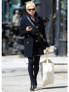 Michelle Williams Band of Outsiders coat