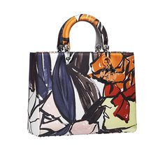 Replica Lady Dior bag with abstract floral print - Resort 2015 Christian Dior, Singapore Fashion, Dior Handbags, Dior Bags, Fashion Handbags, Resort 2015, Cute Bags, Grey Shoes, Bago