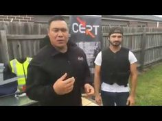 Paul Fong (CERT Australia) | PPSS Stab Resistant Vest - Test Video Test Video, Vest, Australia, Group, Videos, Youtube, Mens Tops, Youtubers, Video Clip
